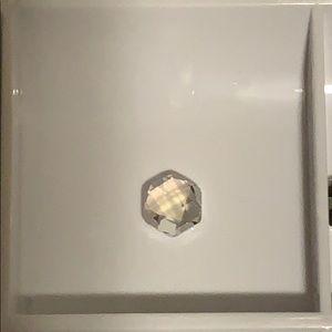 Origami Owl Clear Hexagon Swarovski Crystal